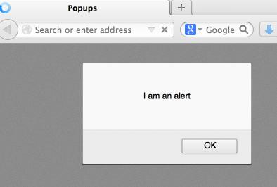 Alert Popup