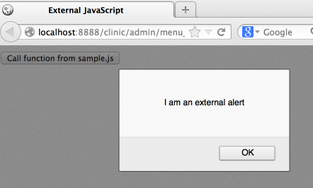 External Javascript file